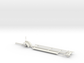 1/64 Silage Header Trailer in White Natural Versatile Plastic