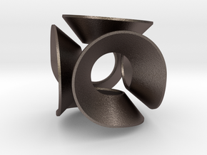 Lobke (Small) in Polished Bronzed Silver Steel