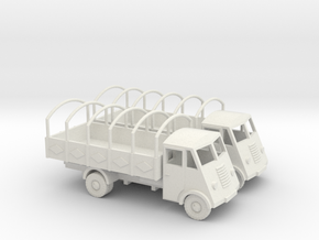 1/144 Renault AHN truck with open platform in White Strong & Flexible