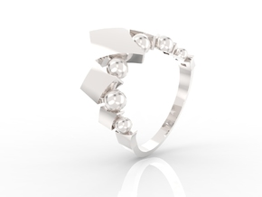 Fusion Ring in Rhodium Plated Brass