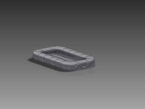 25 Man Rectangular Float 1/144 in Smooth Fine Detail Plastic