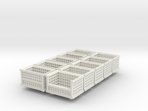 Shipping Crate Stackable 10 Pack 1-87 HO Scale in White Strong & Flexible