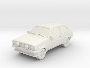 1:87 Fiesta mk1 supersport hollow ho 1mm-walls in White Natural Versatile Plastic