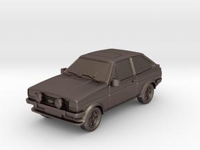1:87 Fiesta mk1 supersport hollow ho 1mm-walls in Polished Bronzed Silver Steel