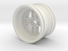 Wheel Design II in White Natural Versatile Plastic