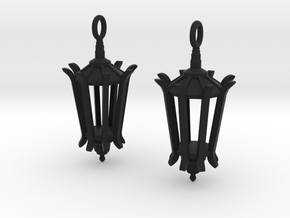 Wellesley Lamppost Earrings in Black Natural Versatile Plastic