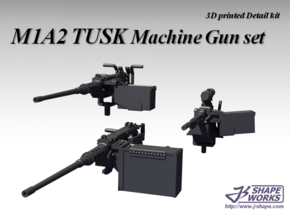 1/18 M1A2 Tusk Machine Gun set in Frosted Ultra Detail