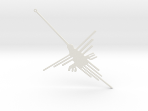 Nazca: The Humming Bird [V2.0] in White Natural Versatile Plastic