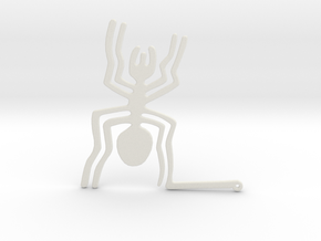 Nazca: The Spider in White Natural Versatile Plastic