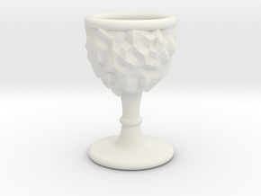 DRAW goblet - inverted geode with stem in White Strong & Flexible: Small