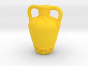 (1/4 Scale) Ancient Greek amphora themed bottle in Yellow Strong & Flexible Polished