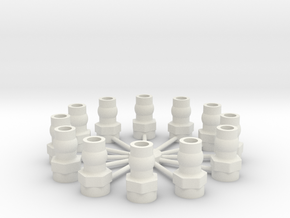 Shock Cap Balls 12 in White Strong & Flexible