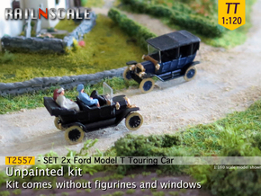 SET 2x Ford Model T (TT 1:120) in Smooth Fine Detail Plastic