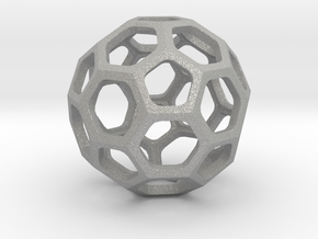 Truncated Icosahedron pendant in Aluminum