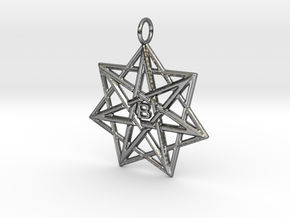 Doppelheptagramm B in Polished Silver