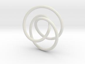 Smooth 2bridge Trefoil Torus Knot in White Strong & Flexible