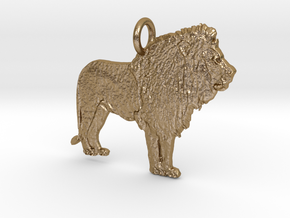 Leo More Pendant in Polished Gold Steel