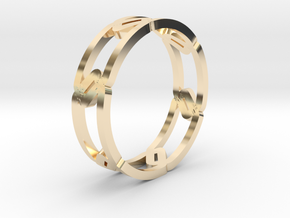 Unique Link Ring  in 14k Gold Plated Brass