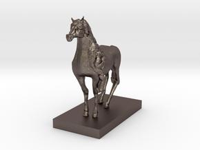 Arabian Horse in Polished Bronzed Silver Steel