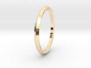 Penta Ring - An unconventional Wedding Ring in 14k Gold Plated Brass: Medium