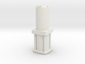 Hydraulic Small 1/12 in White Natural Versatile Plastic
