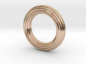 Seal - Tubular Pendant in 14k Rose Gold Plated Brass