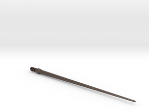 3d SCA Shuttle Pitot Tube in Polished Bronzed Silver Steel