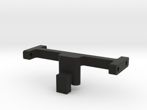 Mounting Bar, 2 mm higher in Black Natural Versatile Plastic