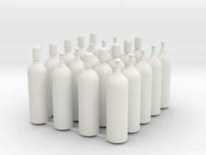 Welding & Gas High Pressure Cylinders 1-45 Scale in White Natural Versatile Plastic