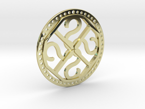 S & T Letter Series - Necklace Pendant in 18k Gold