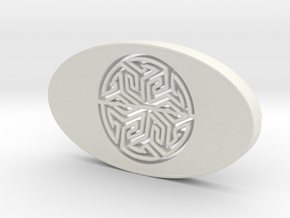 soap holder with Arabic Tile in White Natural Versatile Plastic