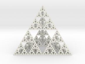 Sierpinski Tetrahedron in White Strong & Flexible