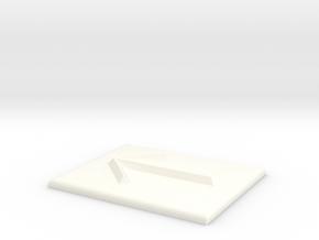 Pfeil nach links in White Processed Versatile Plastic