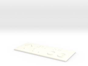 1.OG mit Pfeil nach oben in White Processed Versatile Plastic