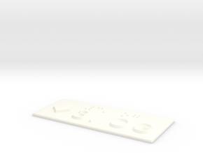 3.OG mit Pfeil nach unten in White Processed Versatile Plastic