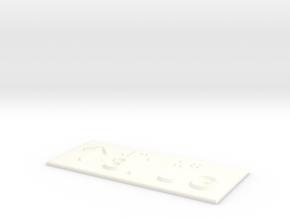 3.UG mit Pfeil nach oben in White Processed Versatile Plastic