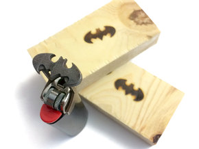 Classic Batman Bic Brander in Polished Bronzed Silver Steel