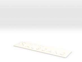 AUSGANG mit Pfeil nach links oben in White Processed Versatile Plastic