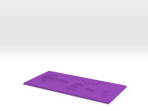 E-1 mit Pfeil nach links in Purple Processed Versatile Plastic