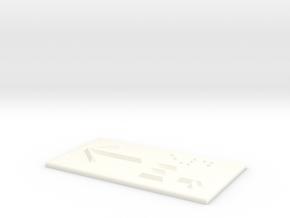 E4 mit Pfeil nach links in White Processed Versatile Plastic