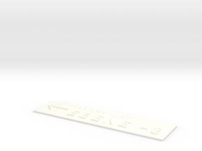 EBENE -3 mit Pfeil nach links in White Processed Versatile Plastic