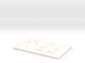 EG mit Pfeil nach oben in White Processed Versatile Plastic