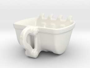 Bulldozer Mug 250ml heavy duty in Gloss White Porcelain