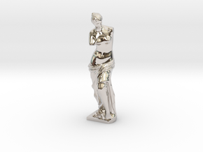 Venus de Milo in Rhodium Plated Brass