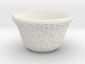 DRAW tea bowl - grandiose cellulose in White Natural Versatile Plastic