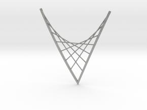 Parabolic Suspension Statement Necklace in Metallic Plastic