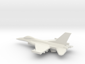 1/350 F-16C Viper in White Natural Versatile Plastic