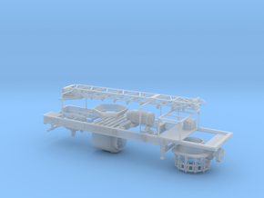 1/64th Cone Crusher Aggregate Trailer in Smooth Fine Detail Plastic