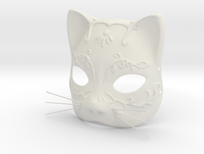 Splicer Mask Cat (Womens Size) in White Natural Versatile Plastic