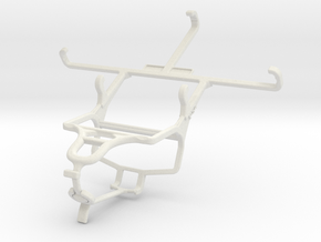 Controller mount for PS4 & BlackBerry Leap in White Natural Versatile Plastic